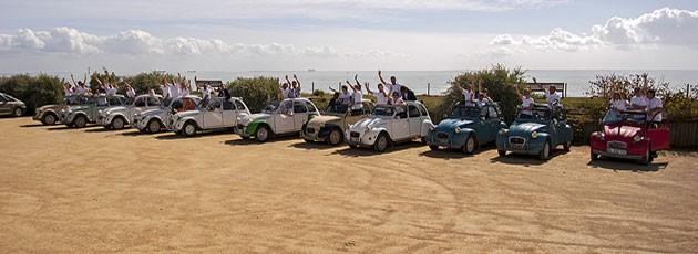 Team building Rallye 2CV-Agence événementielle La Rochelle - Ysséo Event (1,