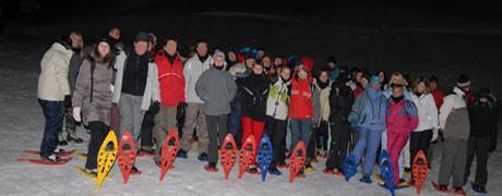 Team building raquettes de nuit